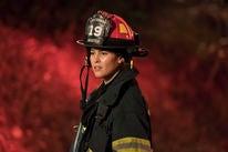"Actress Jaina Lee Ortiz in the TV series ""Station 19"""