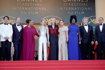 The jury at the closing ceremony of Cannes 2018