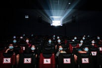 A movie theater in Wuhan, China, august 2020