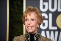 Actressa nd producer Carol Burnett, Golden Globe winner