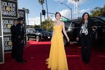 Actress Rachel Brosnahan at the 2019 Golden Globes