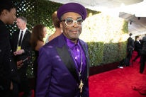 Filmmaker Spike Lee, Golden Globe nominee, at the 2019 Golden Globes