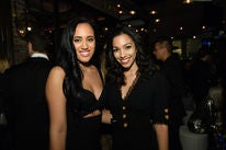 Golden Globe Ambassador 2018, Simone Garcia Johnson, and Miss Golden Globe 2016, Corinne Foxx, at the Ambassador Party 2017