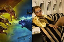 "Scenes from ""Godzilla: King of Monsters"" and ""Rocketman"""
