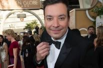 Jimmy Fallon at the 71st Golden Globe Awards