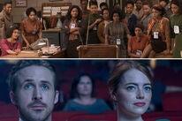 Scenes from Hidden Figures and La La Land
