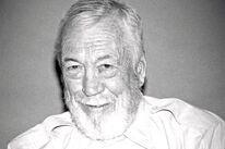 Director, actor John Huston, Golden Globe winner, 1985