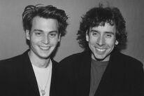 Johnny Depp and Tim Burton, 1990