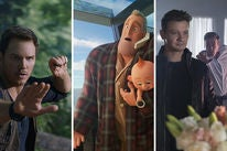 "Scenes from ""Jurassic World: Fallen Kingdom"", ""Incredibles 2"" and ""Tag"""