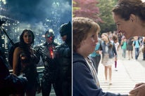 """Scene from """"Justice Leage"""" and """"Wonder"""""""