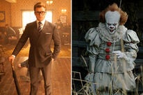 "Scenes from ""Kingsman: The Golden Circle"" and ""It"""