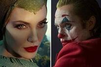 "Angelina Jolie in ""Maleficent: Mistress of Evil"" and Joaquin Phoenix in ""Joker"""