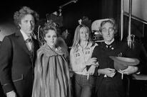 """""""Young Frankenstein"""" Cast: American actor, screenwriter, director, producer, singer-songwriter and author Gene Wilder (1933-2016), American actress, comedian, voice actress, and singer Madeline Kahn (1942-1999), and British actor, comedy writer, and comed"""