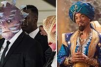 "Scenes from ""Men in Black: International"" and ""Aladdin"""