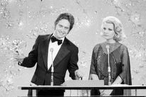 Michael Douglas and Gena Rowlands at the 1976 Golden Globes