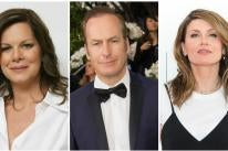 Golden Golbe nominee Bob Odenkirk, Marcia Gay Harden and Sharon Horrgan