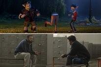 "Chris Pratt and Tom Holland in ""Onward""   Ben Affleck in ""The Way Back"""