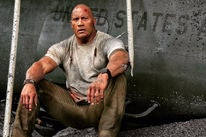 Dwayne Johnson in a scene of Rampage