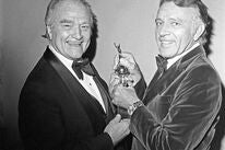 Actors Red Skelton and Richard Burton, 1978