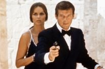 Actor Roger Moore as James Bond