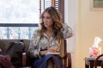 """Actres Sarah Jessica Parker , Golden Globe winner, in a scene from the HBO series """"Divorce"""""""
