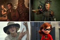 "Scenes from ""Solo: A Star Wars Story"", ""Deadpool 2"", ""Adrift"" and ""Incredibles 2"""