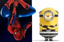 "Scenes from ""Spiderman: Homecoming"" and ""Despicable Me 3"""