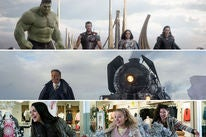 "Scenes from ""Thor: Ragnarok"", ""Murder on the Orient Express"" and ""Bad Moms Christmas"""
