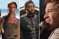"Scenes from ""Tomb Raider"", ""Black Panther"" and ""I Can Only Imagine"""