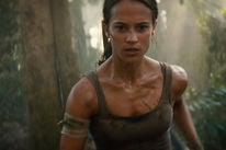 "Actress Alicia Vikander, Golden Globe nominee in a scene from ""Tom Raider"""