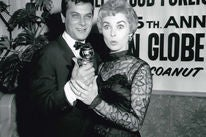 Tony Curtis and Janet Leigh at the Globes, 1958