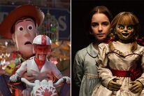 "Tom Hanks and Keanu Reeves in ""Toy Story 4"" and Mckenna Grace in ""Annabelle Comes Home"""