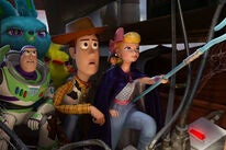 "Tom Hanks, Tim Allen, Annie Potts, Keegan-Michael Key and Jordan Peele in ""Toy Story 4"" (2019)"