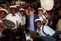 Woody Harrelson Leads the New Orleans Film Festival Opening Night Secondline