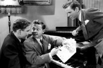 Tom Drake, Mickey Rooney and Marshall Thompson in a scene from Words And Music, 1948