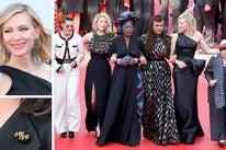 Cate Blanchett, Kirsten Stewart, Lea Seydoux, Khadja Nin, Ava DuVernay and Cate Blanchett, Agnès Varda