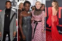 Woody McClain, Lupita Nyong'o with Kate Hudson and Dawn Olivieri
