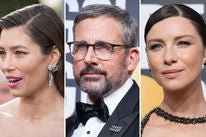 Jessica Biel, Steve Carell and Caitriona Balfe