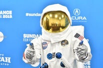 "An ""astronaut"" from the doc Apollo 11, at Sundance 2019"