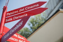Signage at the Venice Film Festival 2018