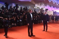 Actor and producer Brad Pitt, Golden Globe winner