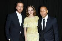 Emma Stone, Golden Globe nominee, Ryan Goslind and John Legend, Toronto 2016