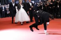 Cast ofthe film The Square arrive at the Palais, Cannes 2017