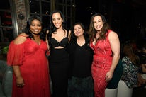 Octavia Spencer, Golden Globe Amabassador Simone Garcia Johnson, HFOA president Meher Tatan and Dany Garcia, Simone's mother, at the Ambassador 2018 event