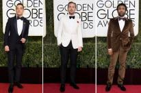 Rami Malek jokes that one of the perks of fame is getting to have a relationship with Dior, and this dark blue tux made him a stand out at the Globes. Ryan Gosling took the classic white on white and added a red detail in the form of a flower on the lapel