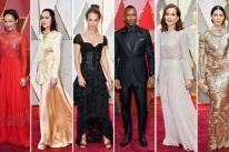 Ruth Negga, Dakota Johnson, Alicia Vikander, Mahershala Ali, Isabelle Huppert and Jessica Biel at the Oscars