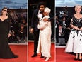 Susan Sarandon, Judi Dench with Ali Fazal, and Helen Mirren