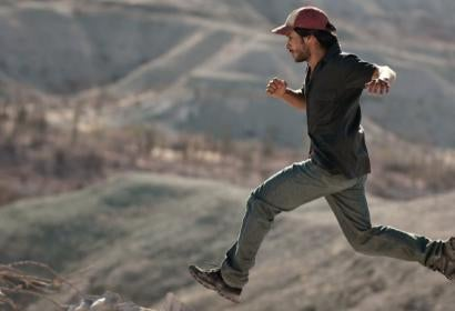 "Actors Gael Garcia Bernal , Golden Globe winner, in as cene from ""desierto"" (Mexico)"