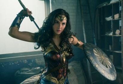 "Gal Gador ina scene from ""Wonder Woman"""