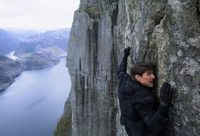 Tom Cruise in a scene from Mission Impossible Fallout